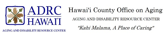 Logo of Hawaii County on Aging